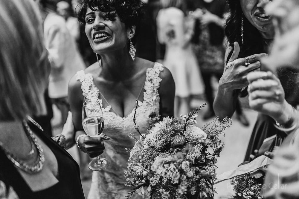 wedding reception drinks with friends