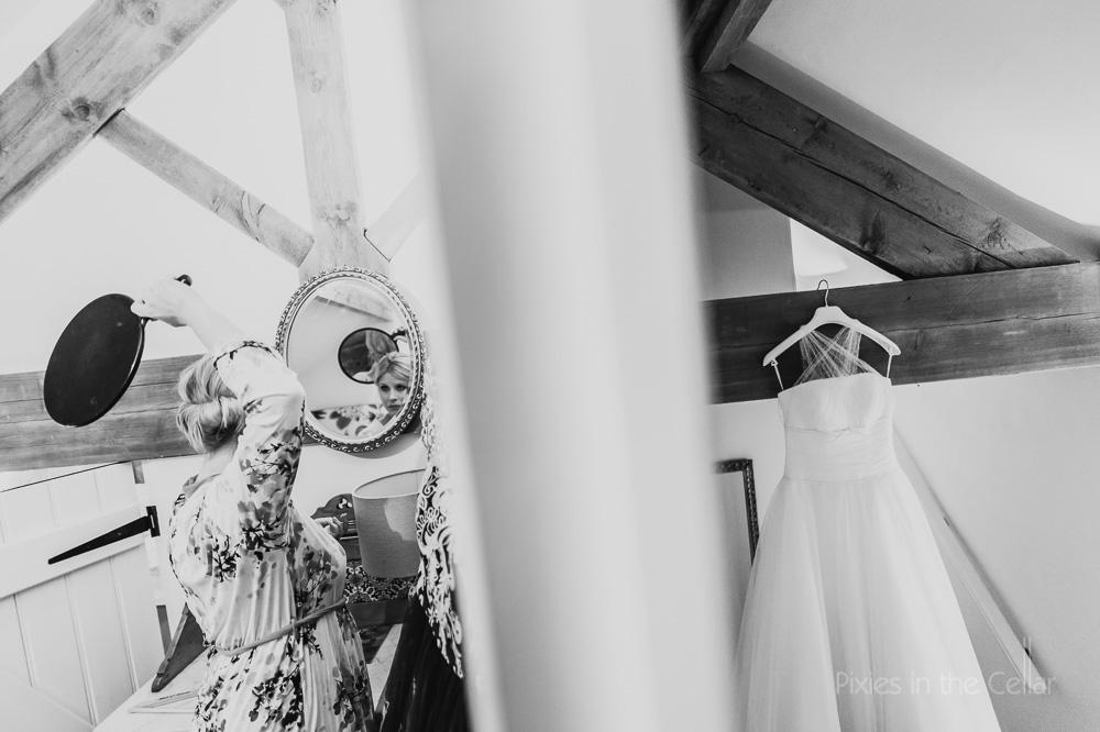 Edale Gathering bridal prep