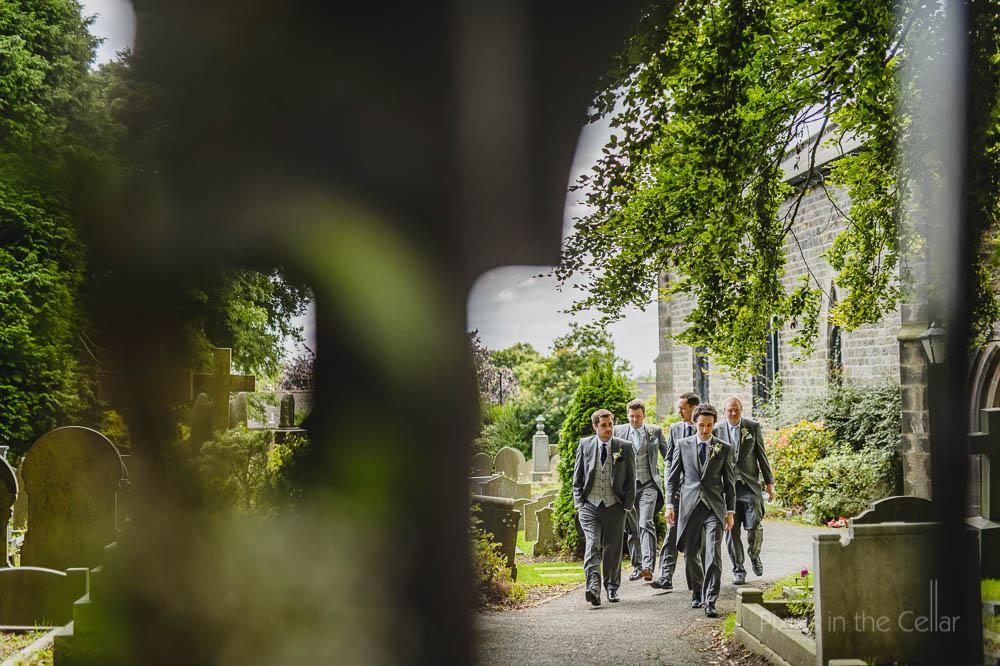 English church wedding groomsmen