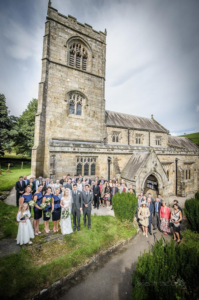 St Wilfrids, Burnsall, Wedding