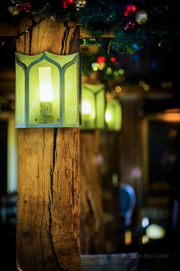 cosy winter wedding details in pub barn