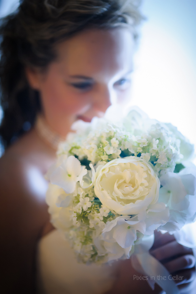 bride silk bouquet