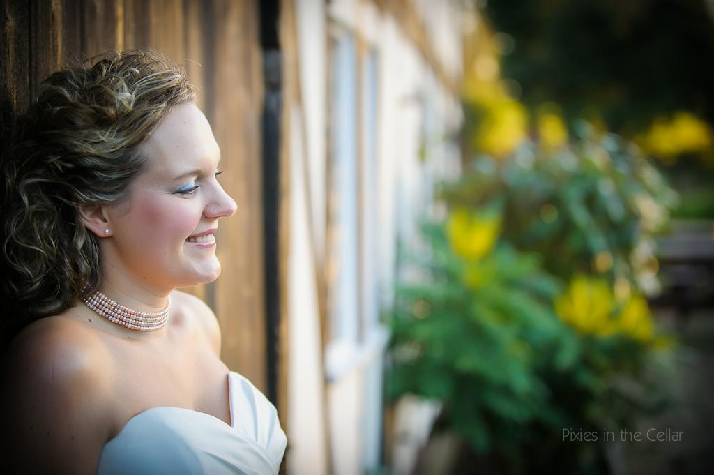 bride winter light
