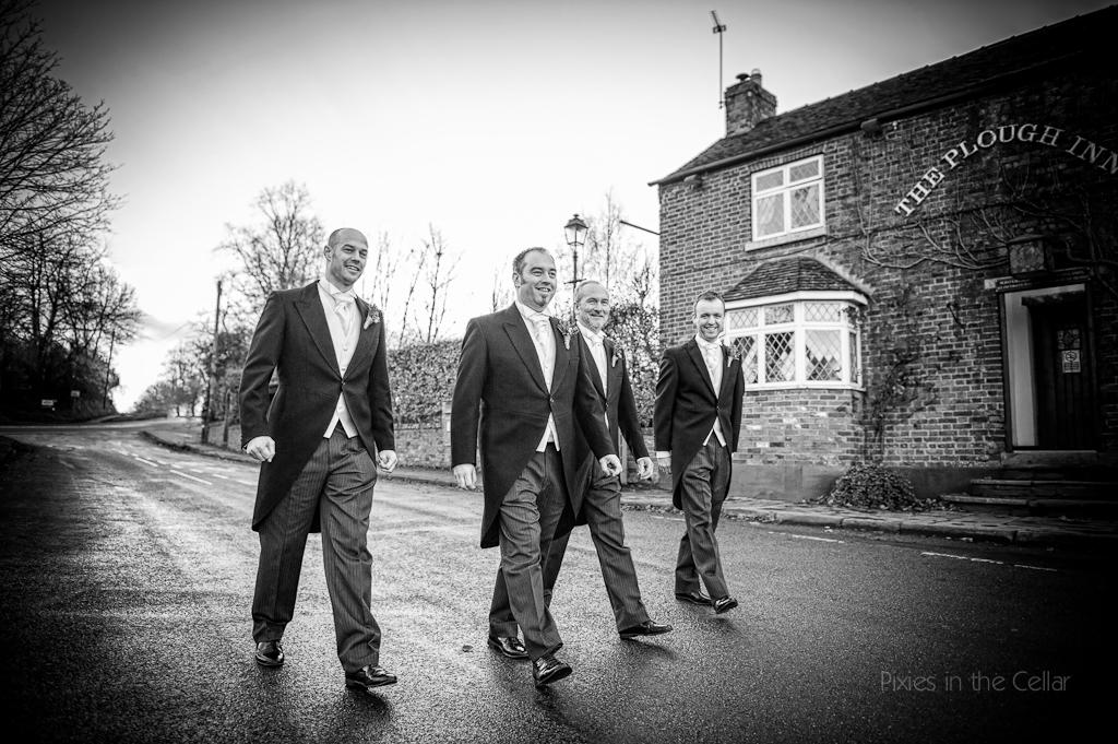 plough inn wedding groomsmen