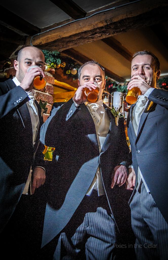Pre wedding beers