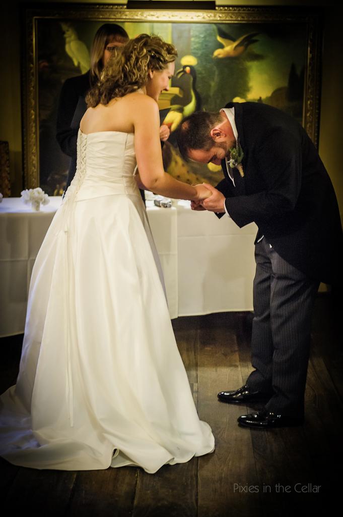 groom emotion at wedding ceremony