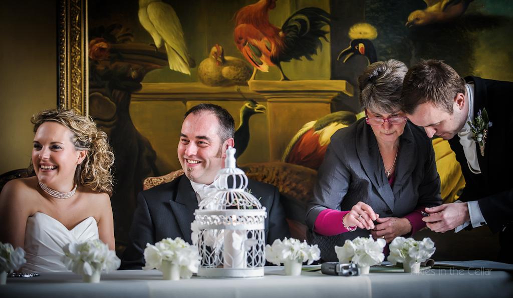 signing wedding register at plough inn eaton