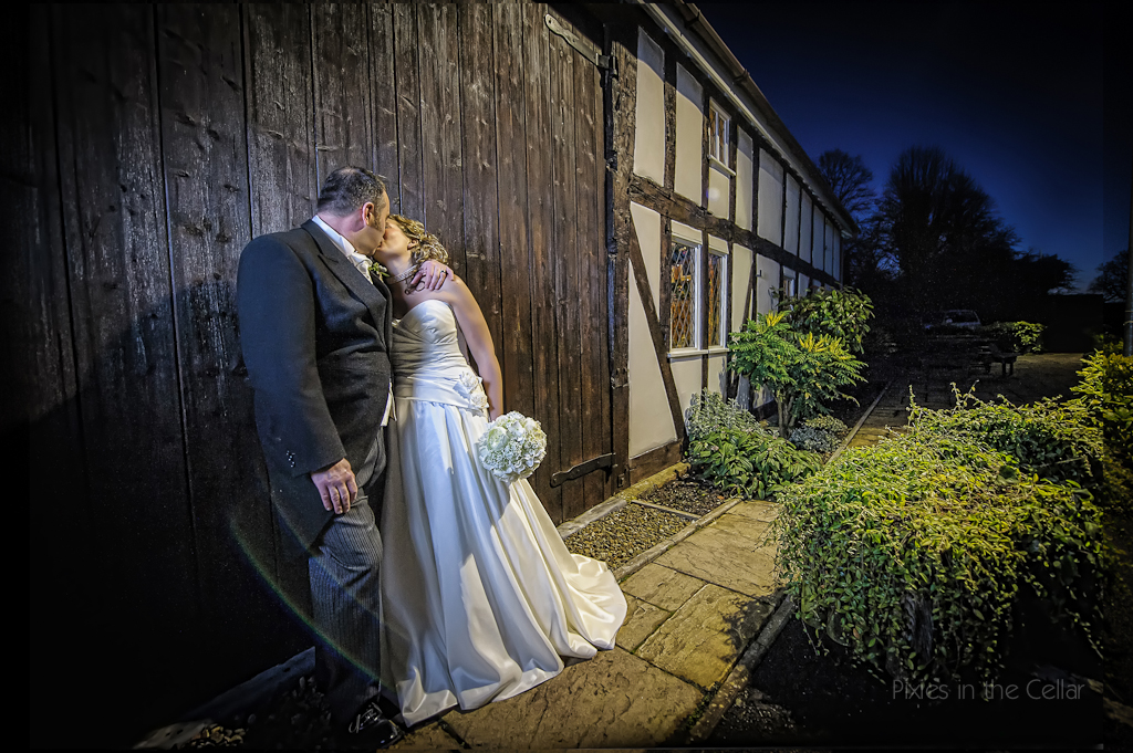 winter wedding cheshire barn