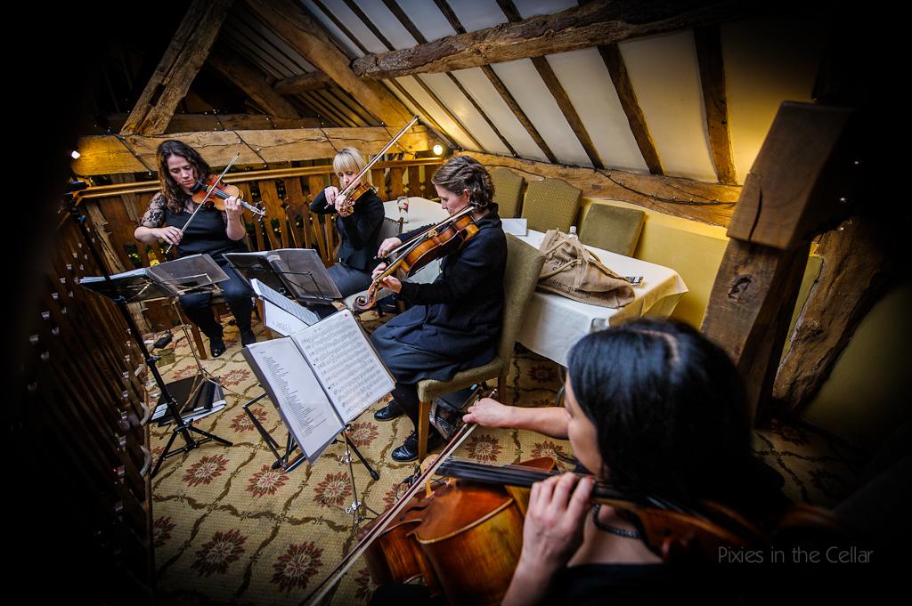 string quartet at wedding