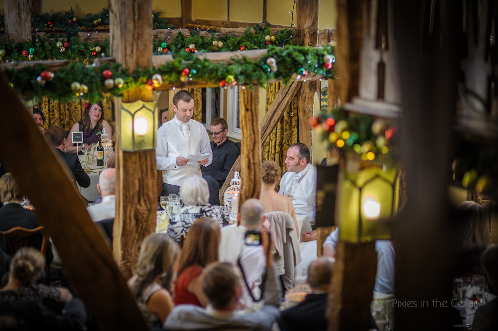 Christmas wedding The plough Inn Eaton cheshire