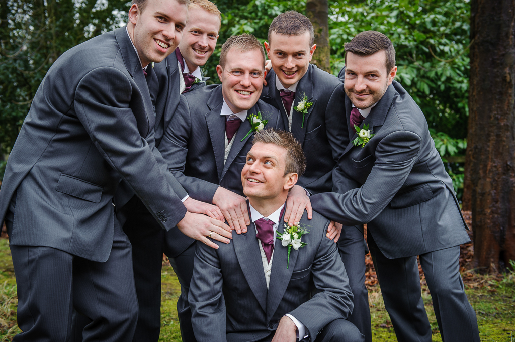 groomsmen purple cravates