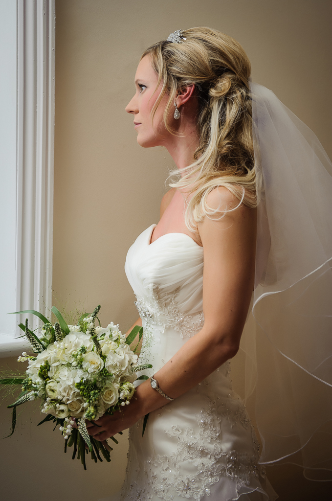 side portrait bride