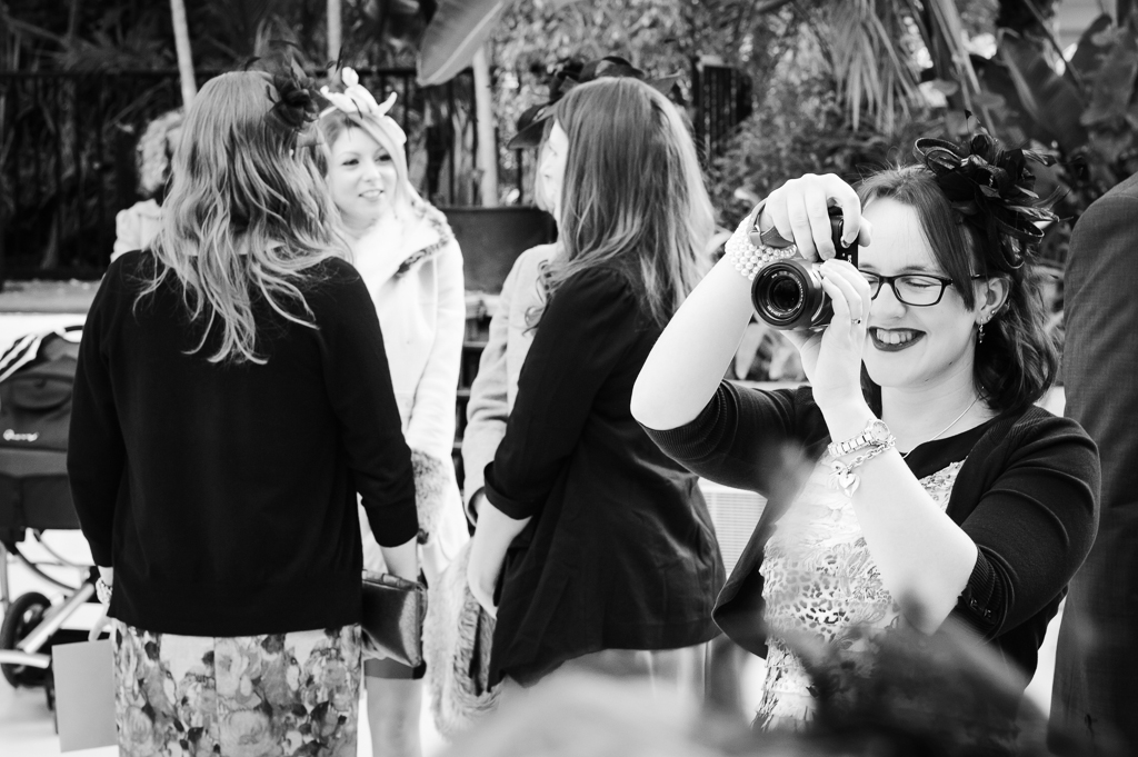 wedding guest with camera