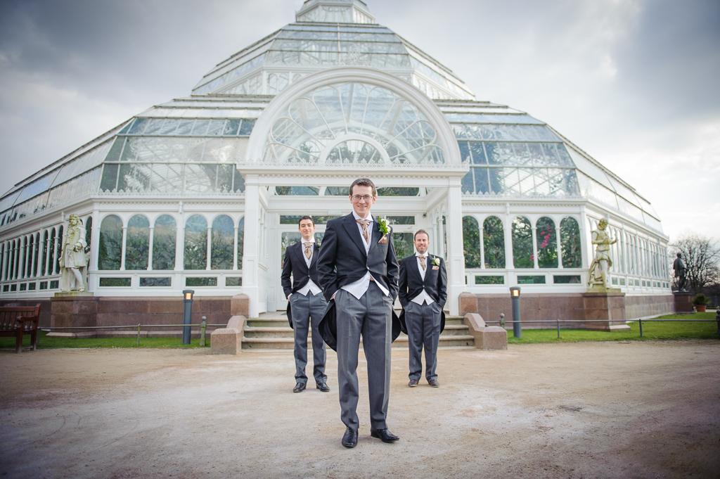 groomsmen sefton park palm house