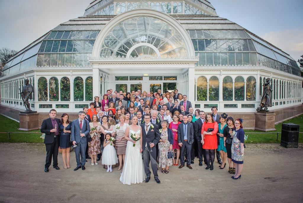 sefton park palm house wedding photo