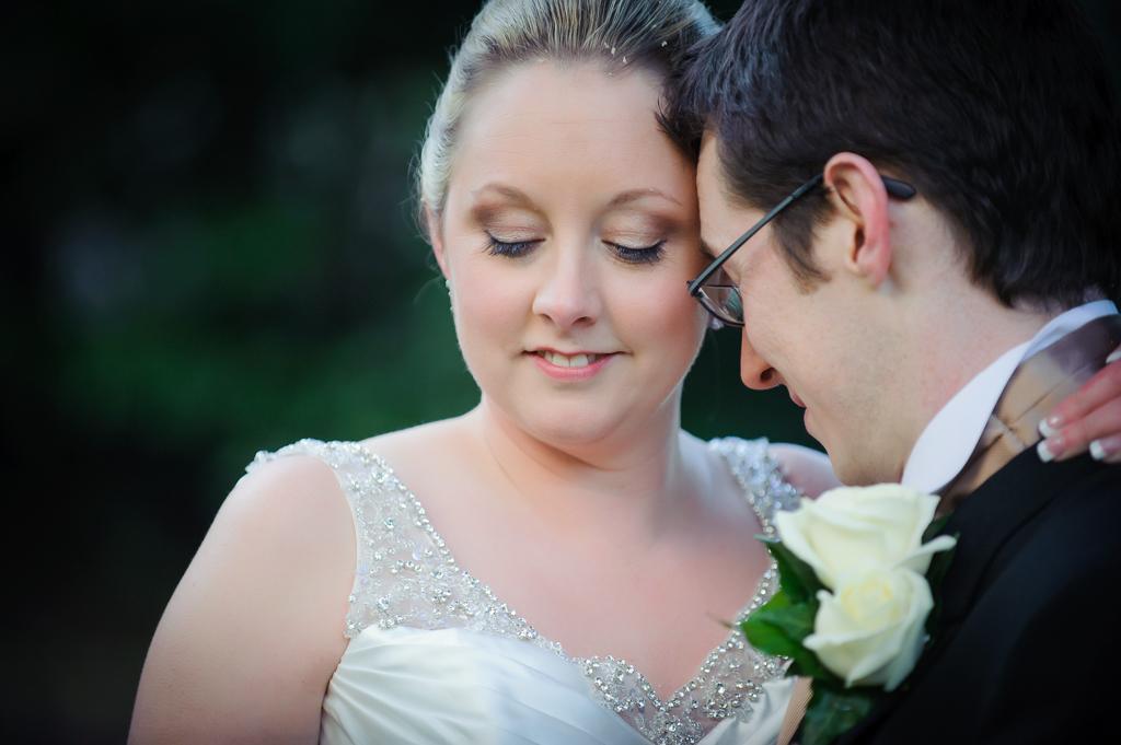 bride groom close up