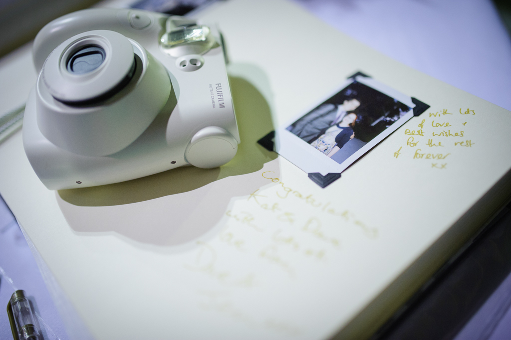 instant photo wedding guest book