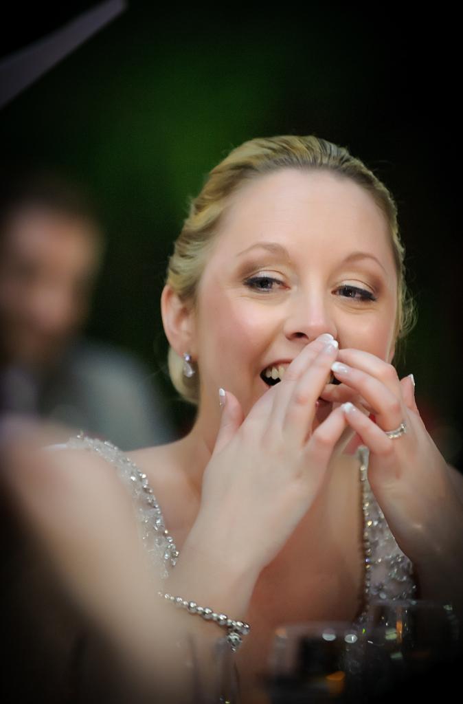 bride during speeches