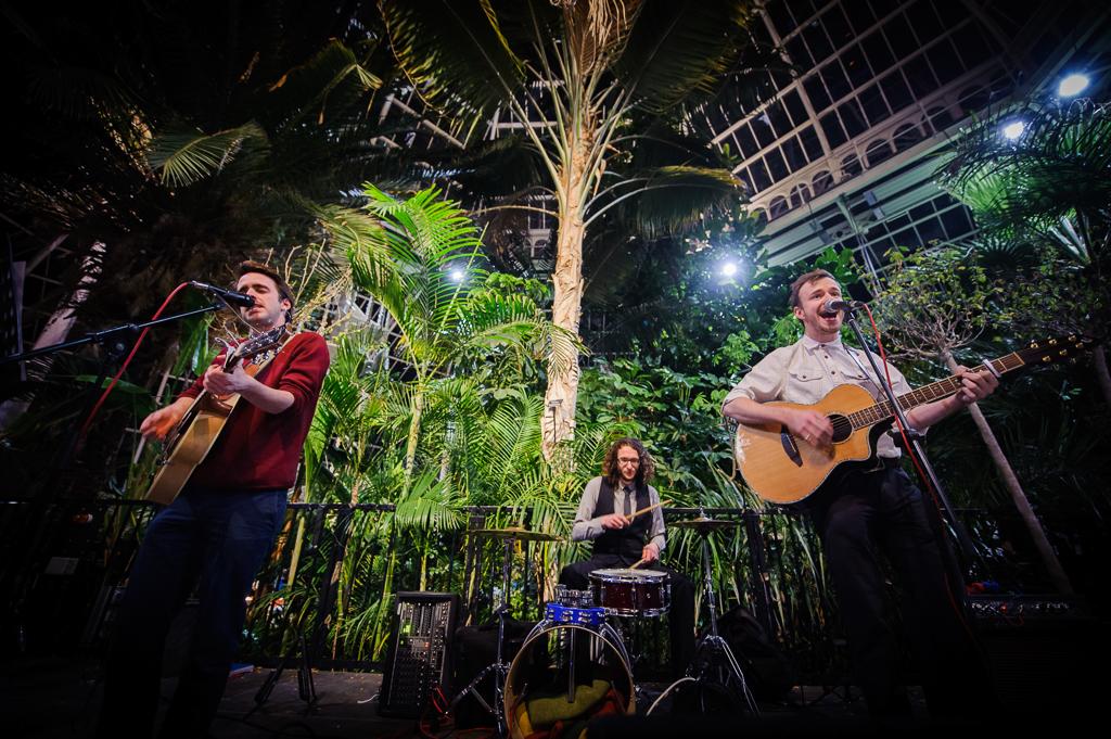 hope street busking band at sefton park palm house wedding