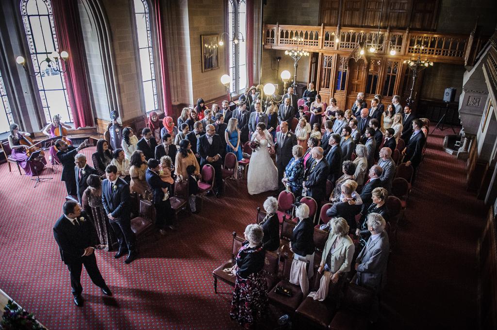 Manchester town hall wedding photograph