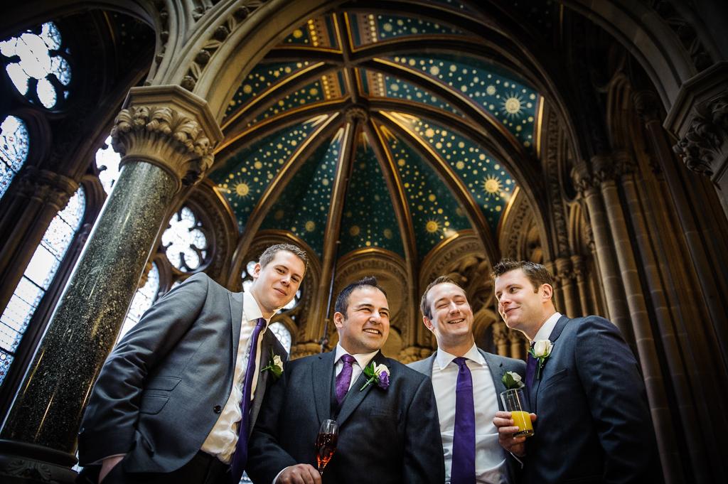 Manchester Town Hall Wedding groomsmen