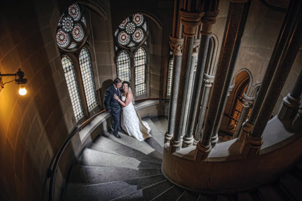 Manchester wedding photographer town hall shot