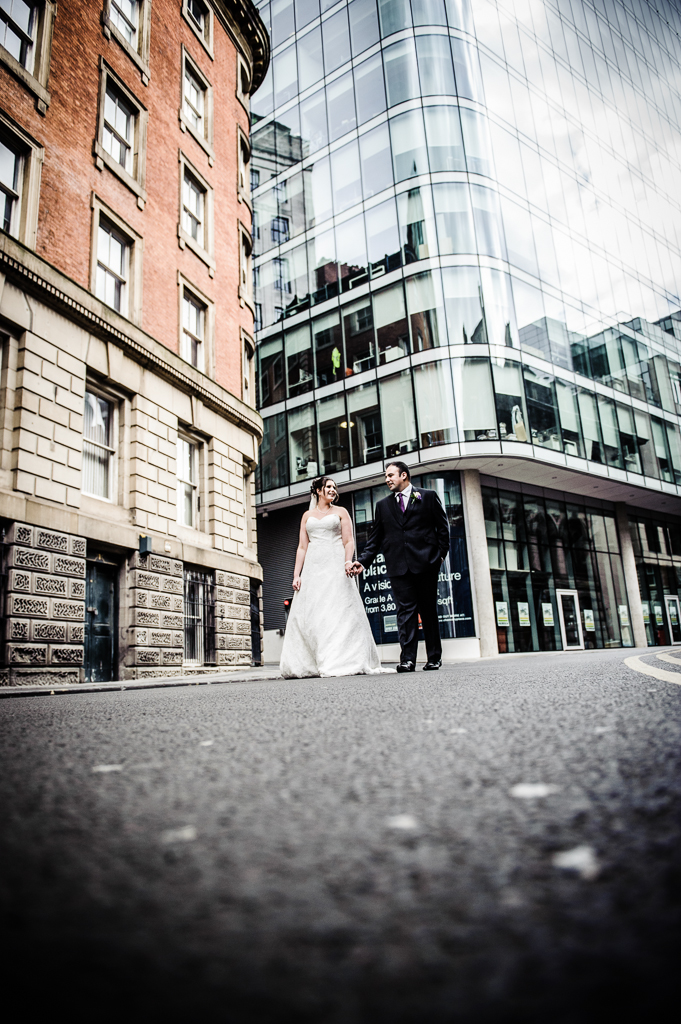 wedding photography on the streets of Manchester
