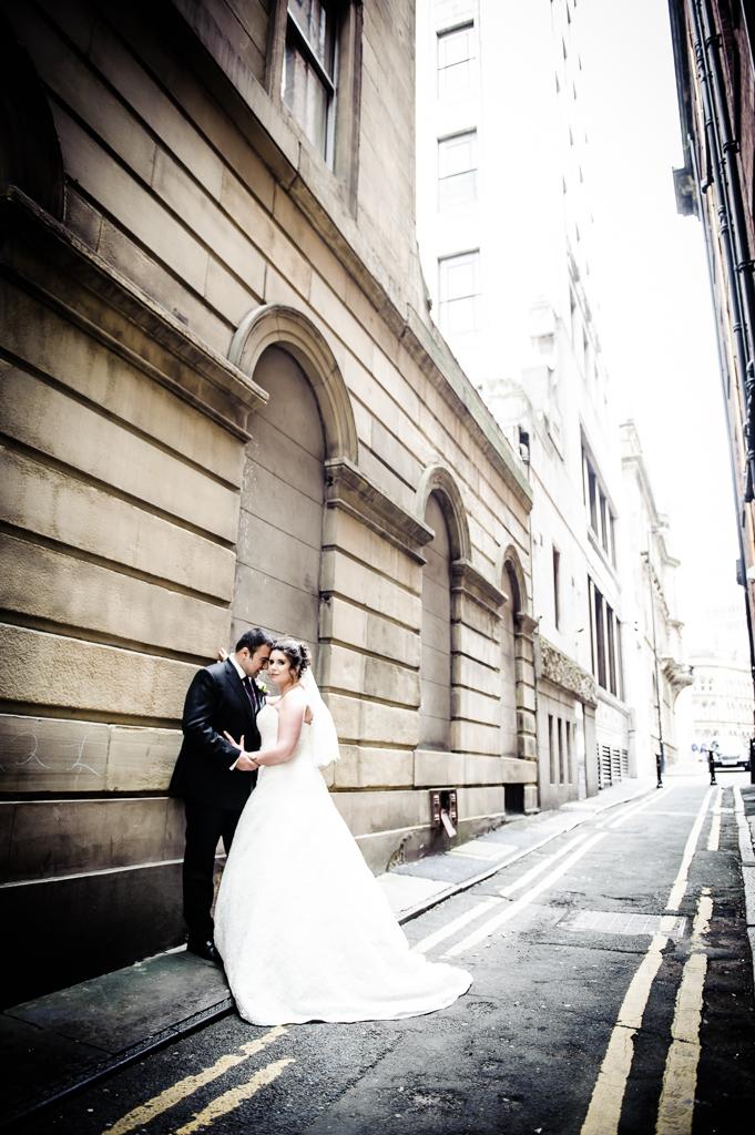 city centre wedding photo