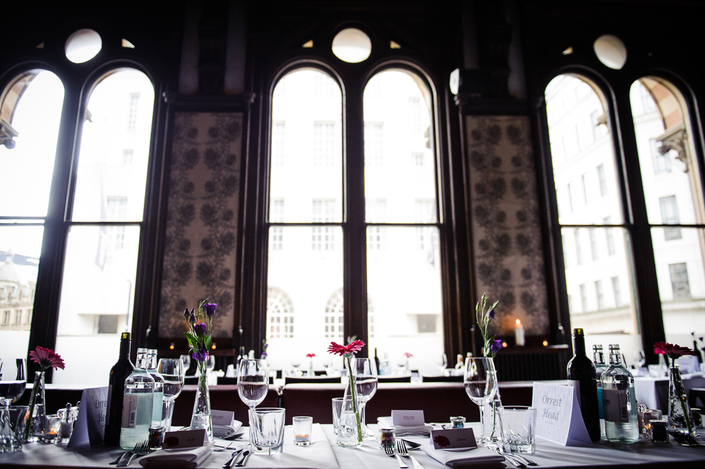 Room Restaurant Manchester Wedding