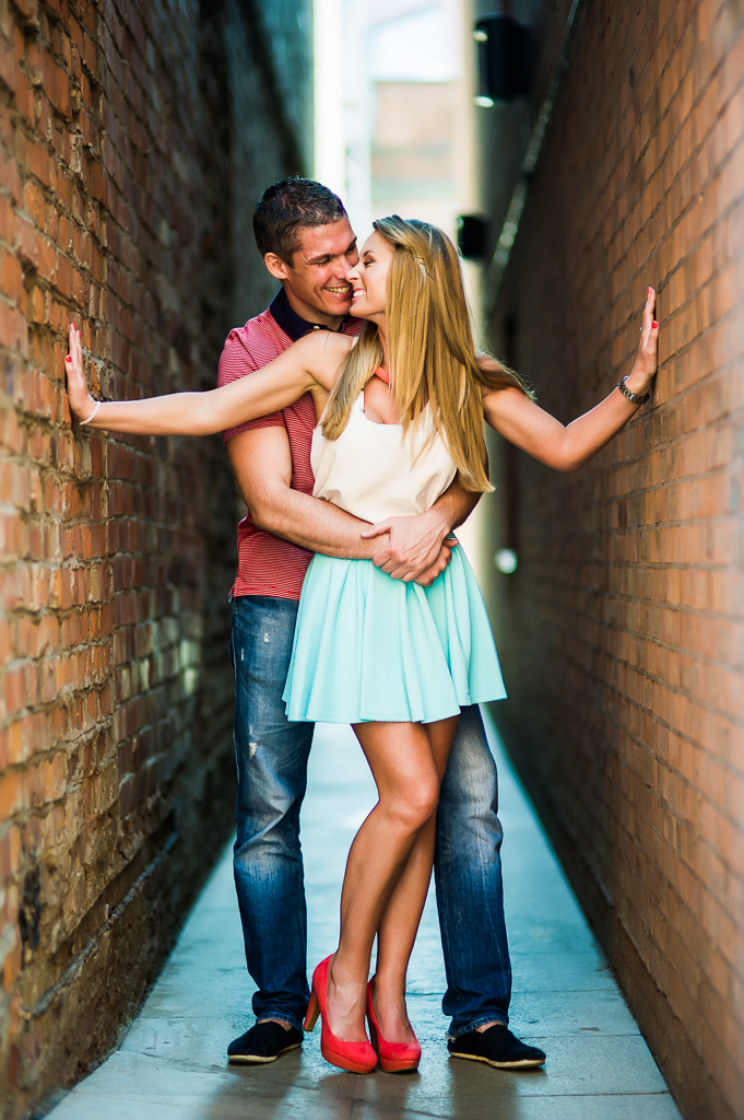 Engagement shoot in Manchester ginnel
