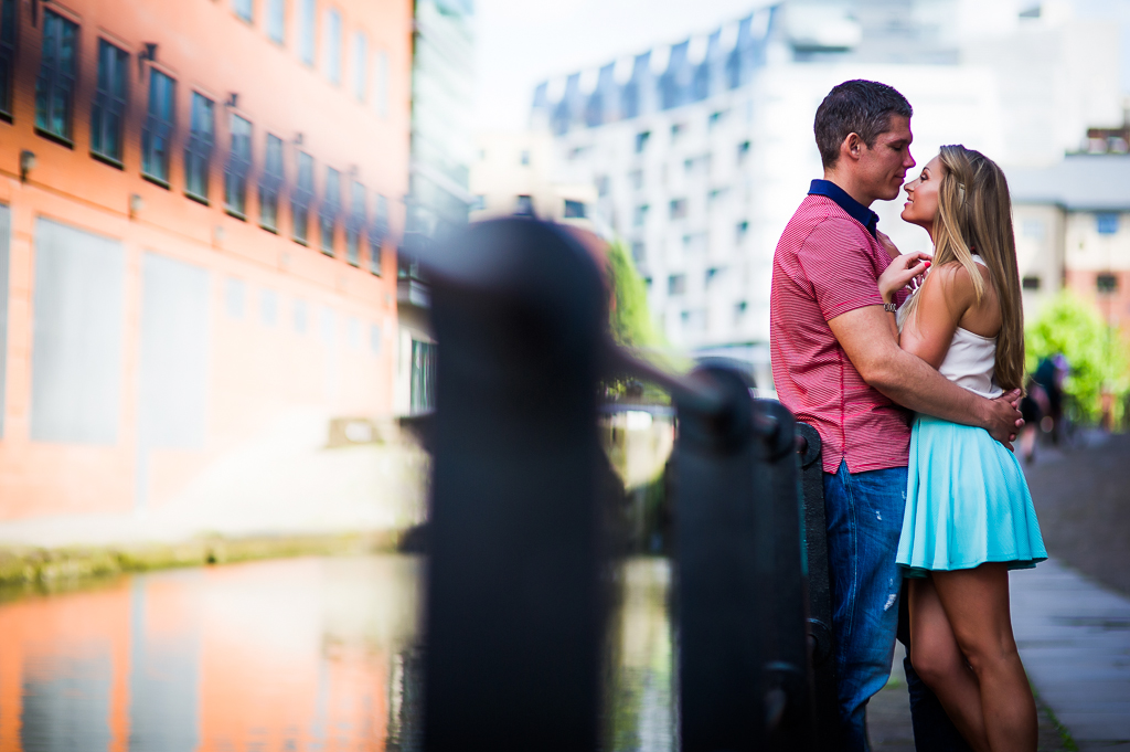 Castlefield canal Manchester engagement photography