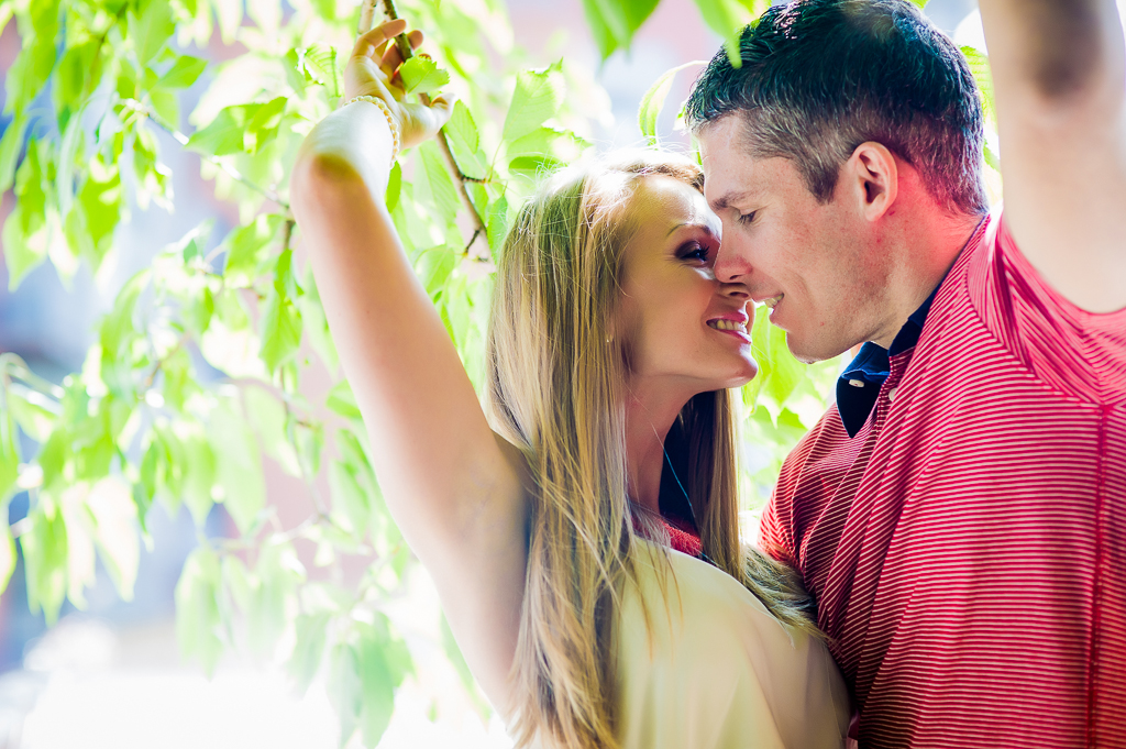 couple in tree and sunlight