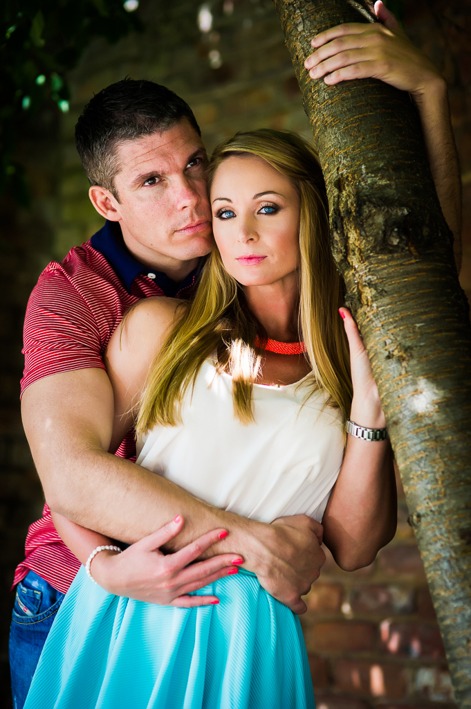 modern couple and tree