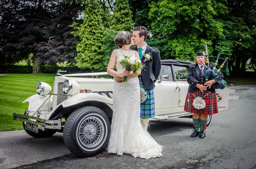 Wentbridge House Wedding Kilts And Rustic Flowers