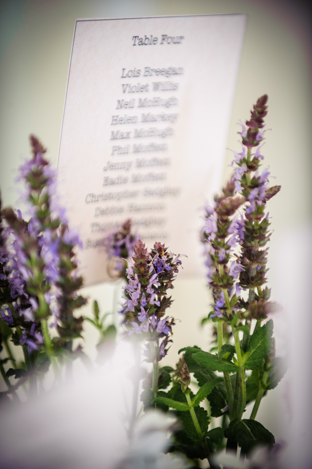 Langdale chase wedding photography lavender table plan