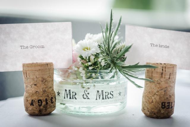 champagne cork wedding name holders