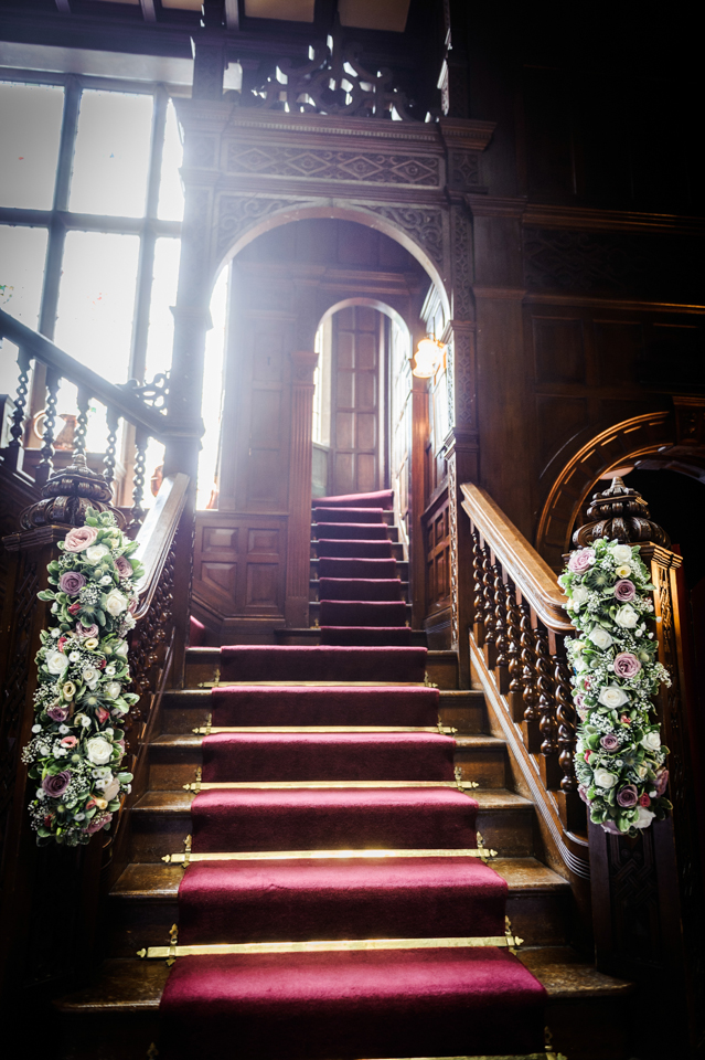 Langdale chase baronial hall wedding flowers