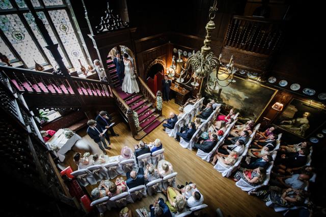 Langdale chase wedding ceremony photo
