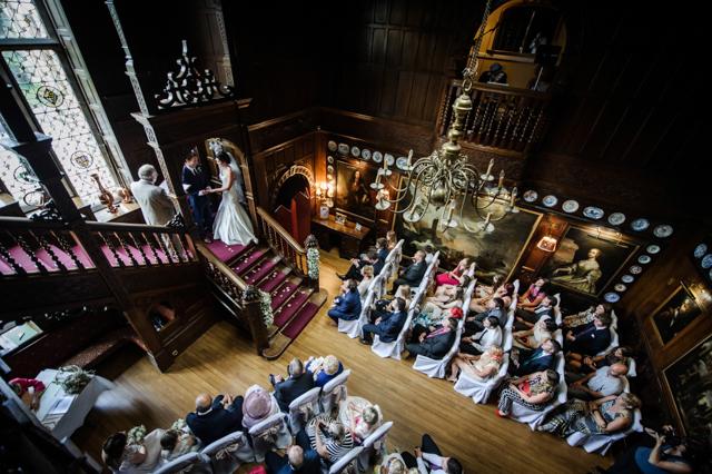 Lake District wedding ceremony baronial hall