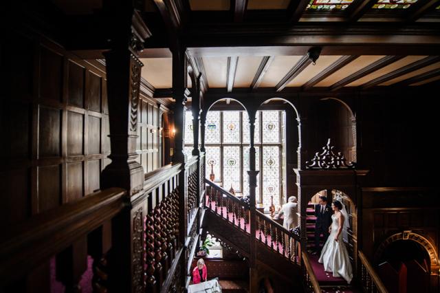 Oak panelled wedding ceremony