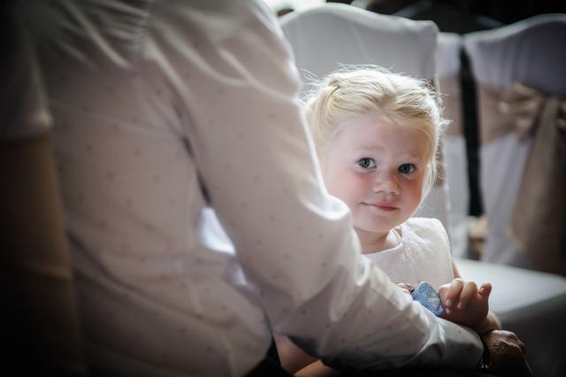 little girl at wedding