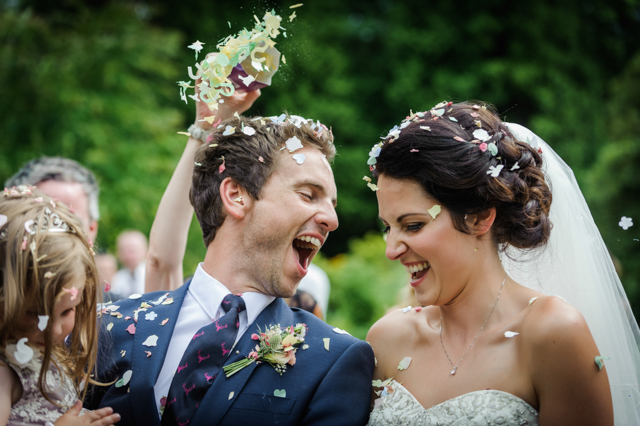 wedding confetti laughs