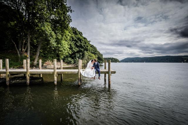 Natural wedding photos lake district
