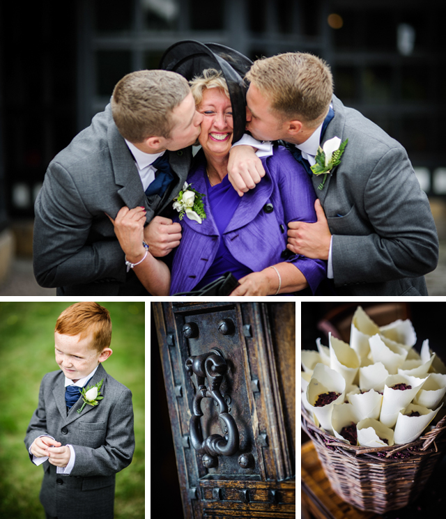 mother and sons at wedding
