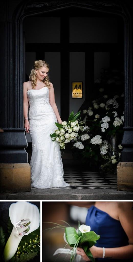 bride in doorway tudor hotel