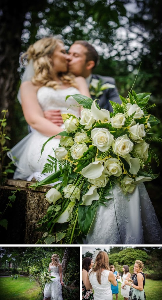 Cheshire wedding waterfall bouquet