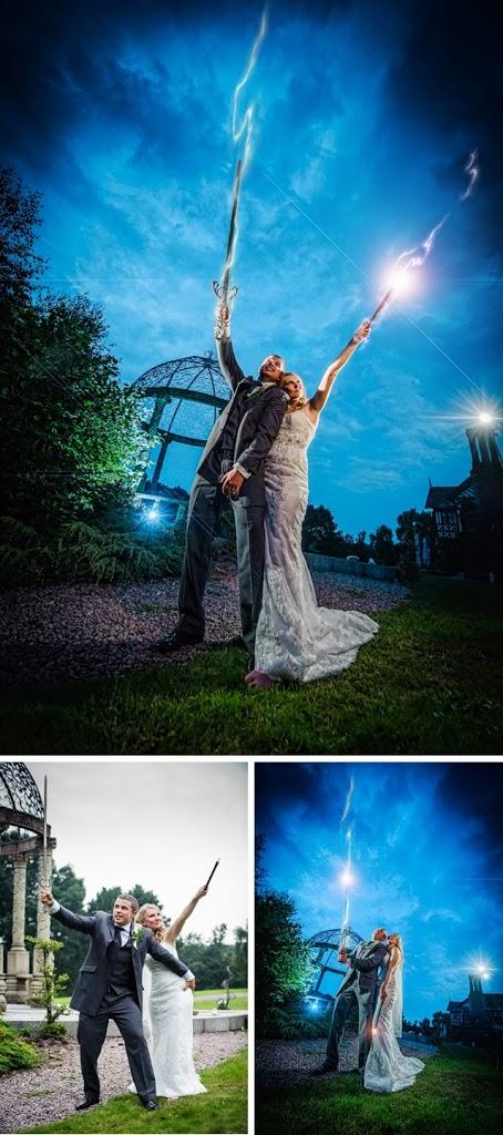 Harry Potter themed wedding photos