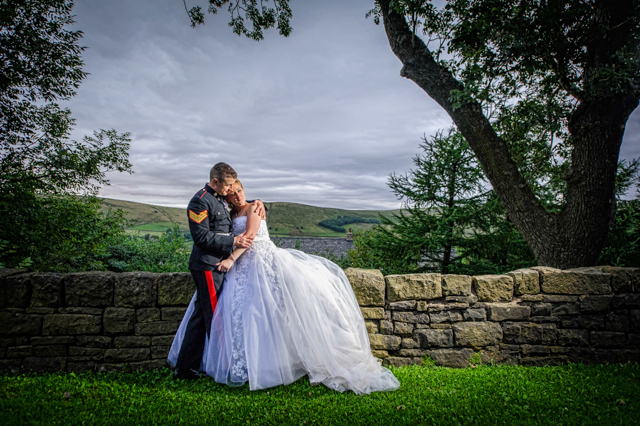 Military dress wedding at the saddleworth hotel 2013 for Free wedding dresses for military brides