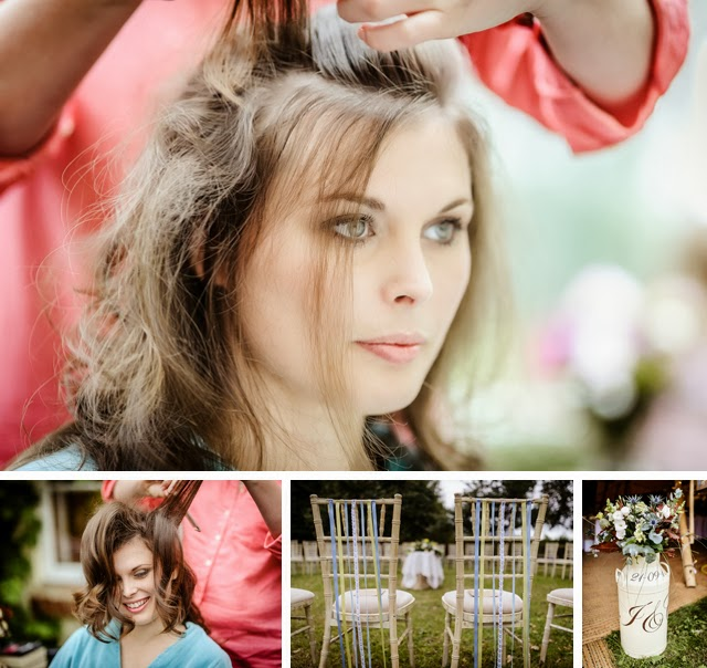 bridal prep rustic wedding