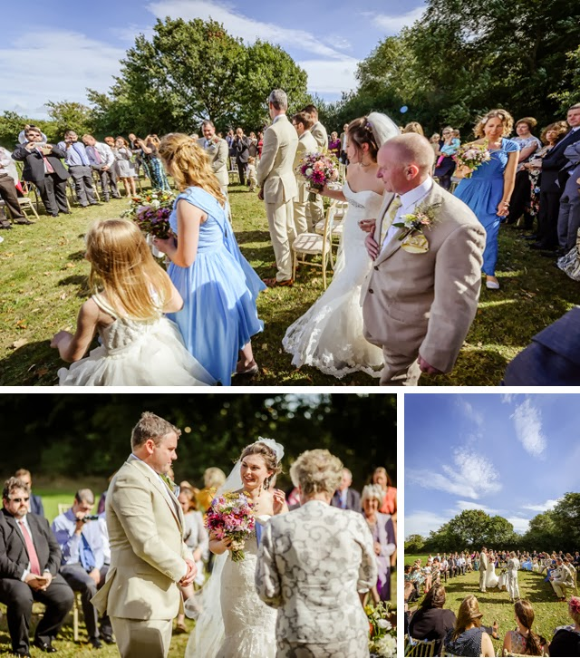 Outdoor humanist wedding ceremony